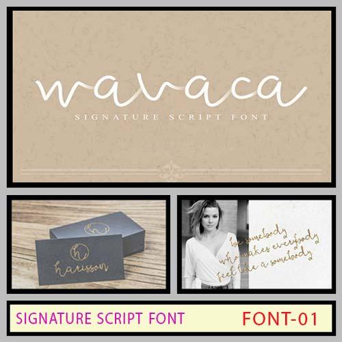 فونت انگلیسی wavaca