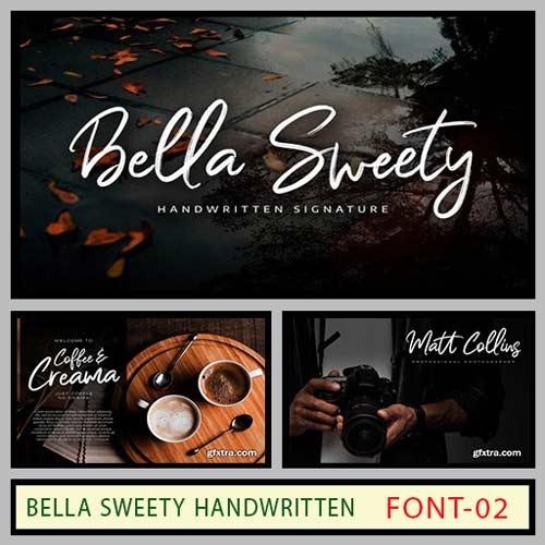 فونت انگلیسی Bella Sweety