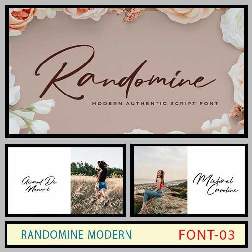 فونت انگلیسی Randomine modern